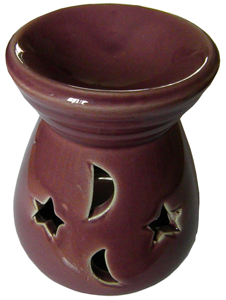 Medium Dark Crimson Moon & Stars Oil Burner