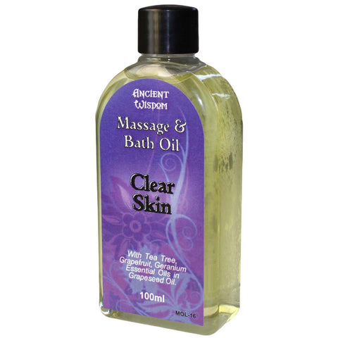 Massage and Bath Oil Clear Skin Blend