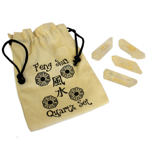 Feng Shui Quartz Set With Pouch