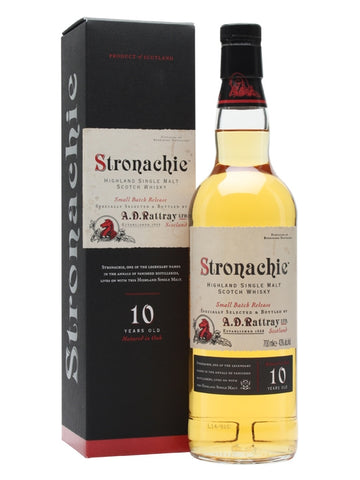 Stronachie 10 Y.O. Benrinnes, Speyside Single Malt Scotch Whisky, Dewar Rattray, 43%