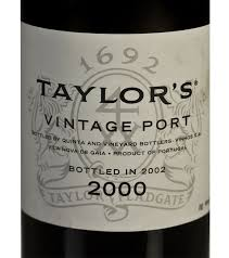 Taylor's Vintage Port 2000, bottled in 2002