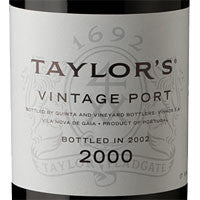 Taylor's Vintage Port 2000, bottled 2002