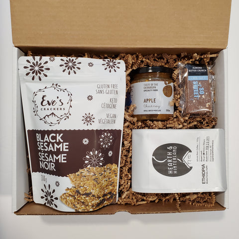 crackers coffee client gift virtual event gift box