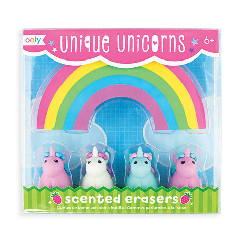 Unique Unicorns Scented Erasers - Set of 5