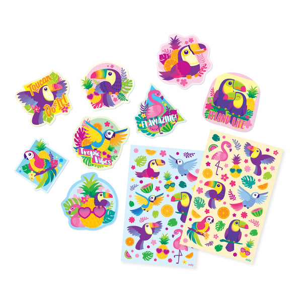 Scented Scratch Stickers: Tropical Birds