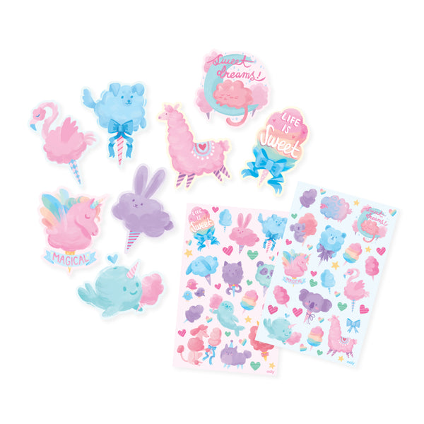 Scented Scratch Stickers: Fluffy Cotton Candy