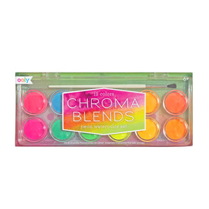 Chroma Blends Neon Watercolor Paint- 13 Piece Set