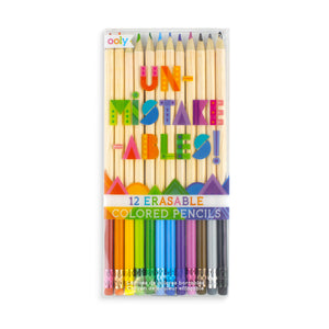 Unmistakeables Erasable Coloured Pencils- Set of 12