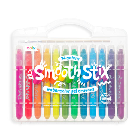 Smooth Stix Watercolour Gel Crayons - Set of 24