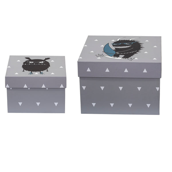 Monster Storage Boxes-Set of 2