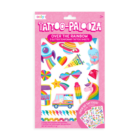 Temporary Glitter Tattoos- Over the Rainbow