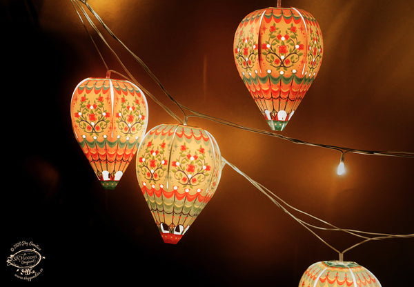 Mini Hot Air Balloon Lamp Shades with Fairy Lights