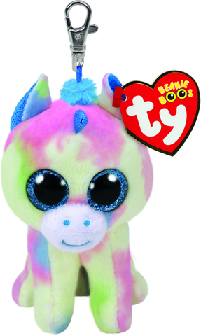 Blitz-Multicoloured Blue Unicorn Beanie Boo Clip