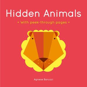 Hidden Animals: A board book with peek-through pages