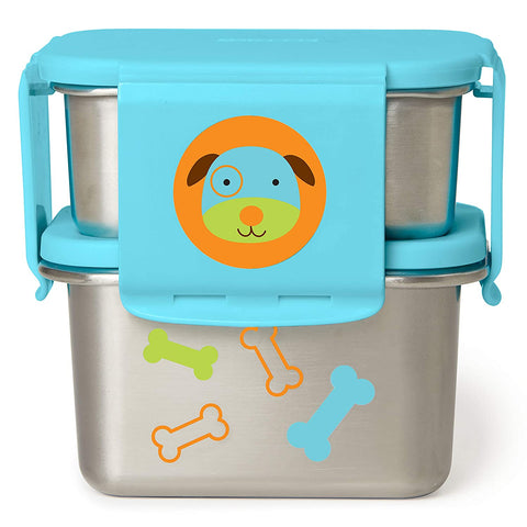 Skip Hop Zoo Stainless Steel Lunch Kit -Dog