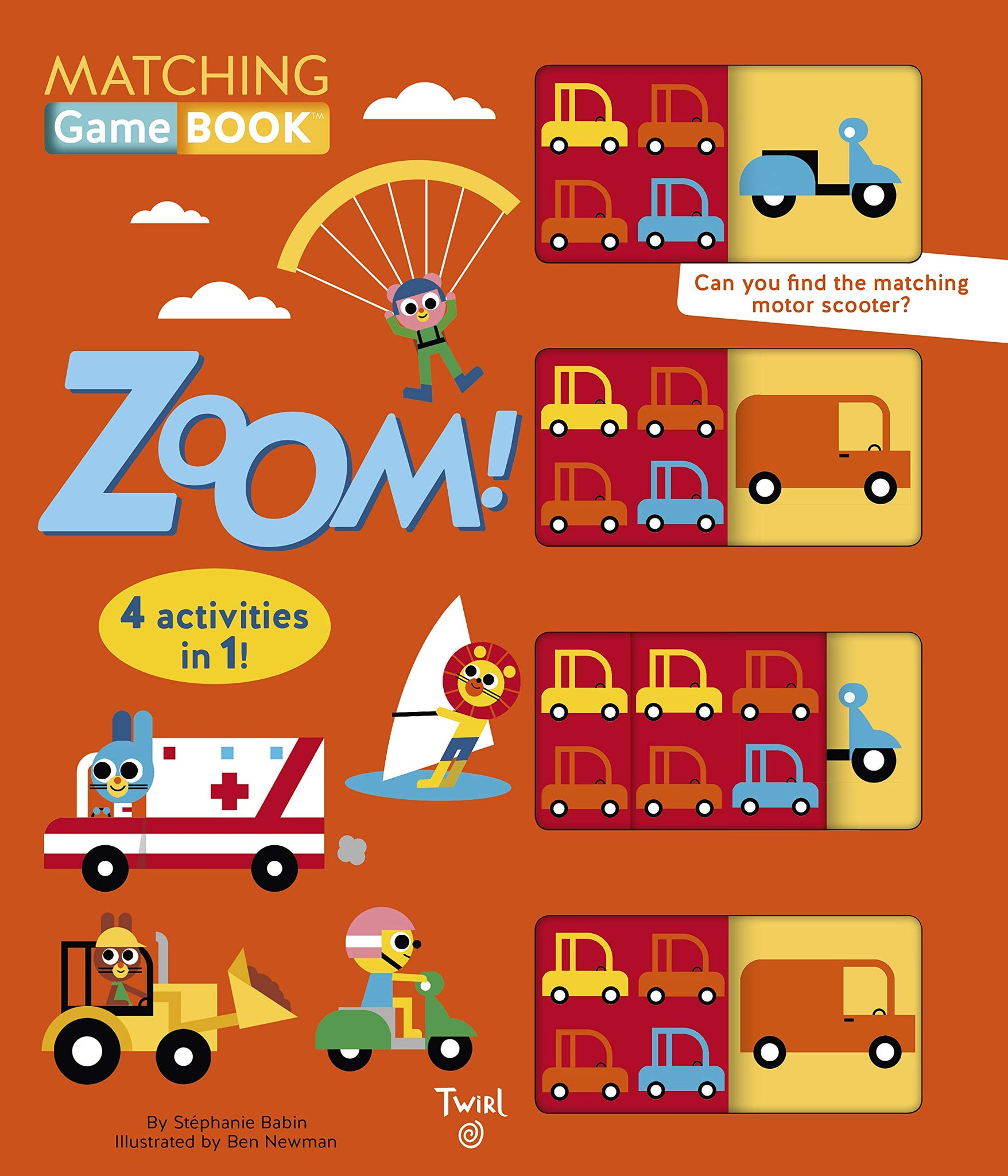 Zoom! Matching Game Book: 4 Activities in 1!