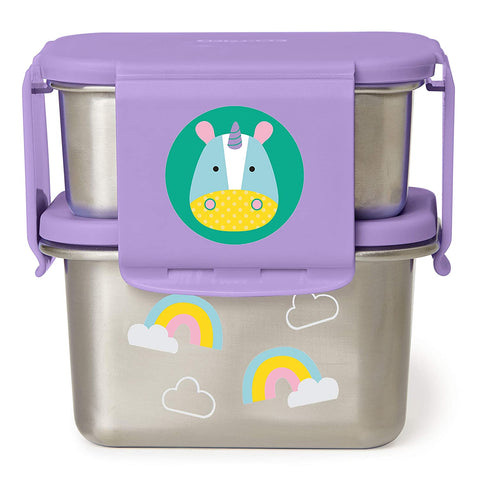 Skip Hop Zoo Stainless Steel Lunch Kit -Unicorn