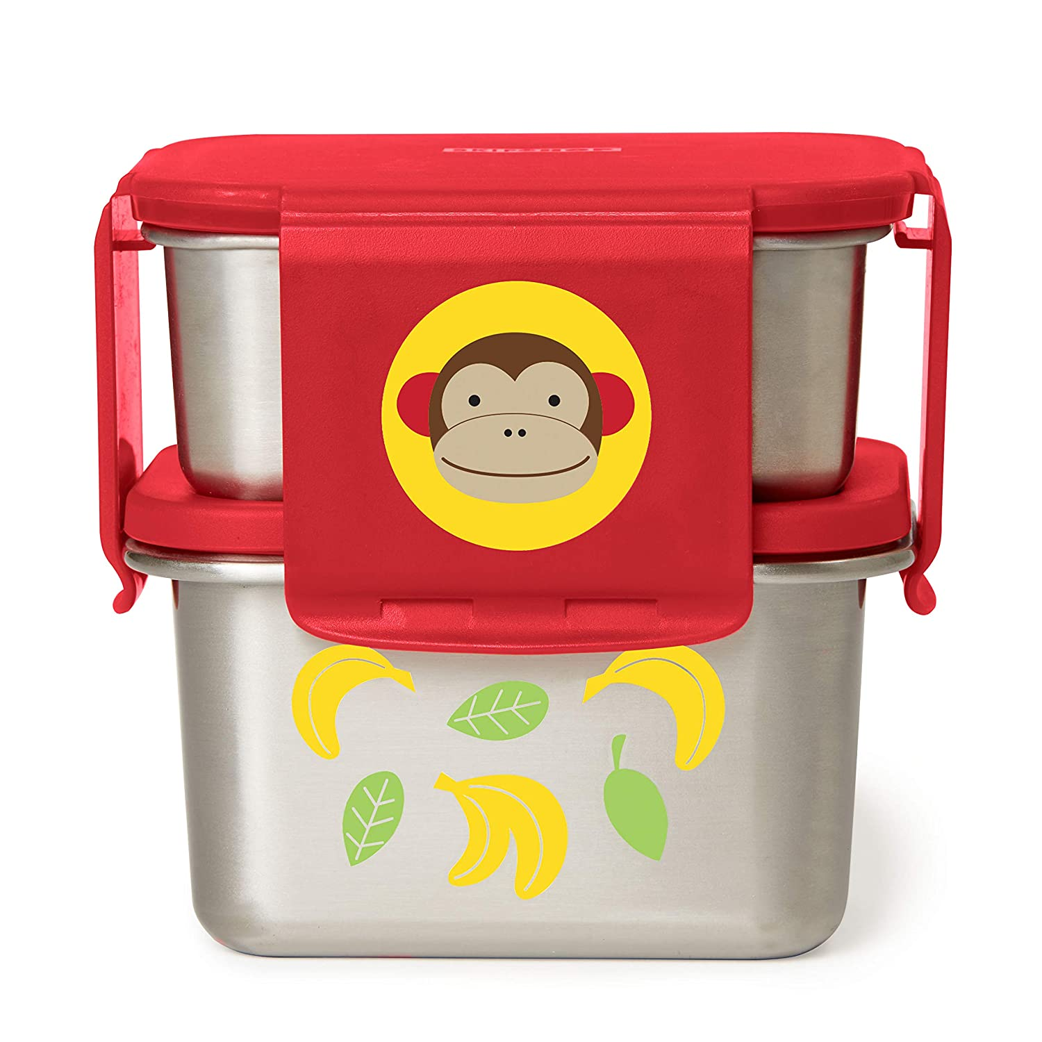 Skip Hop Zoo Stainless Steel Lunch Kit -Monkey