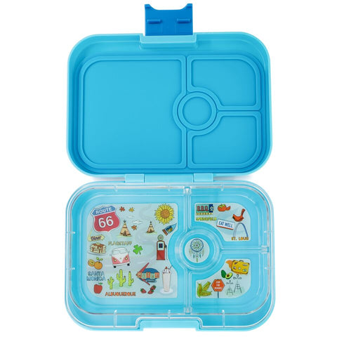 Yumbox Panino 4 Compartment - Blue Fish