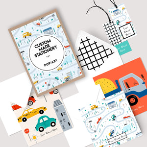 Personalised Gift Cards & Tags - Cars