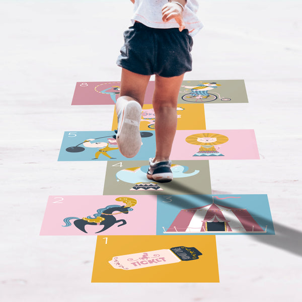 Hopscotch Floor Decals - Circus