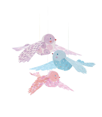 Airy Objects to Hang - Glitter Birds