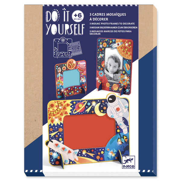 Do it Yourself Mosaic Photo Frames - Outer Space