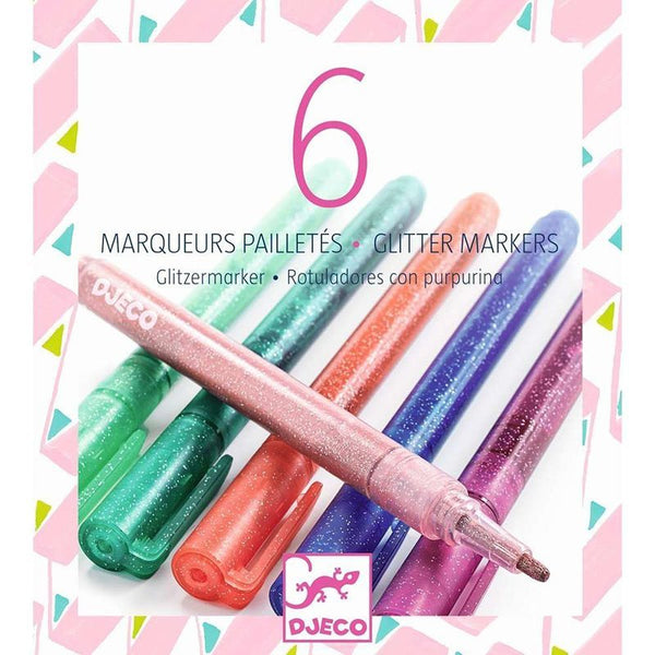 Set of 6 Glitter Markers