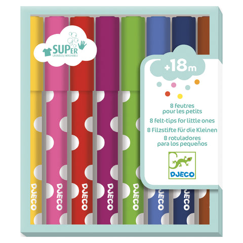Set of 8 Markers for littles - 18 months +