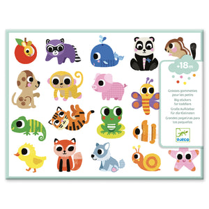 Toddler Stickers for Little Fingers - Baby Animals