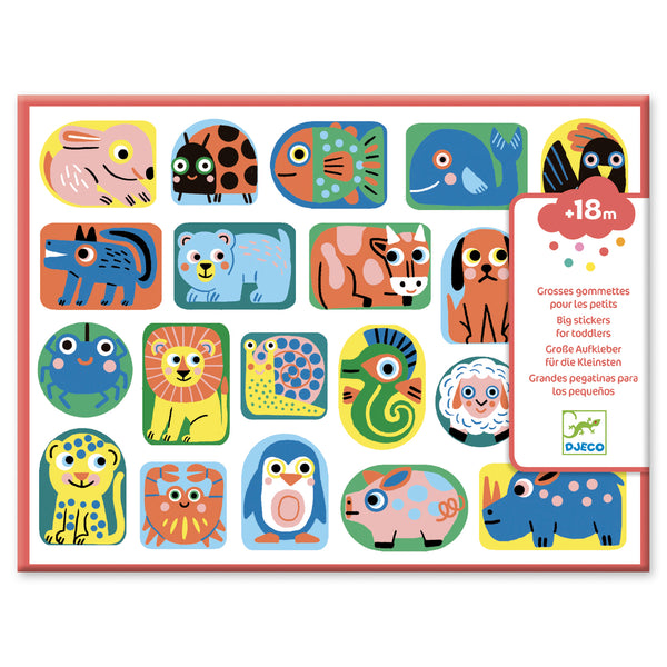 Toddler Stickers for Little Fingers - All Shapes & Sizes