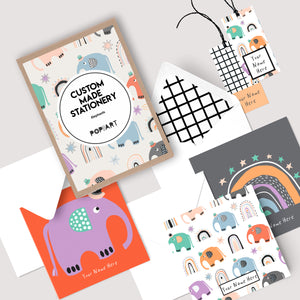 Personalised Gift Cards & Tags - Elephants