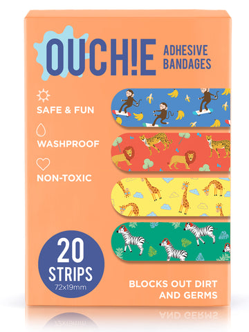 Ouchie Kids Bandages Pack of 20 - Orange