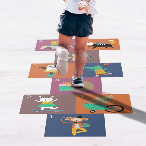 Hopscotch Floor Decals - Forest Animals