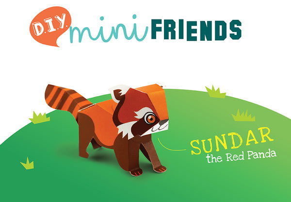 DIY Mini Red Panda- Papercraft Kit