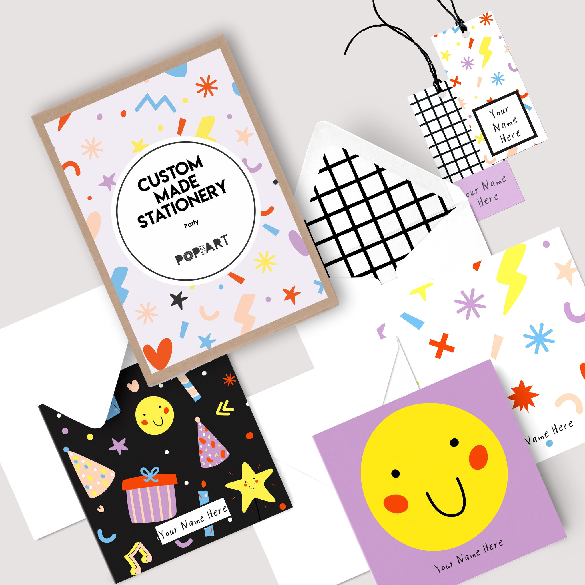 Personalised Gift Cards & Tags - Party