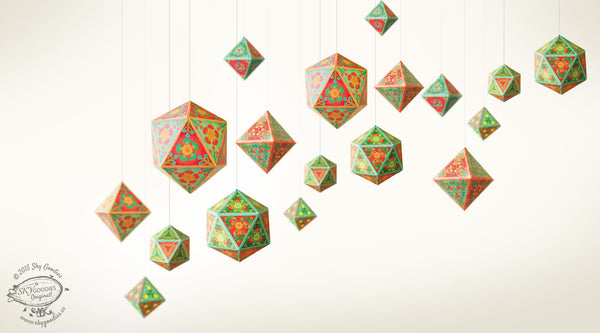Set of 10 Ornaments - DIY Paper Craft Kit