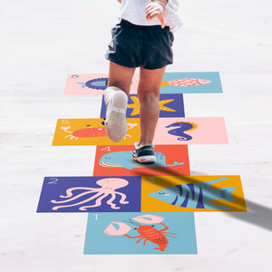 Hopscotch Floor Decals - Underwater