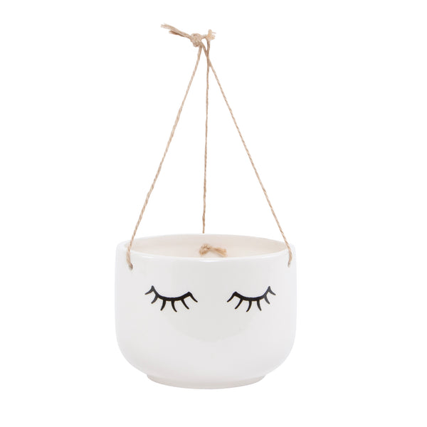 Eyes Shut Hanging Planter