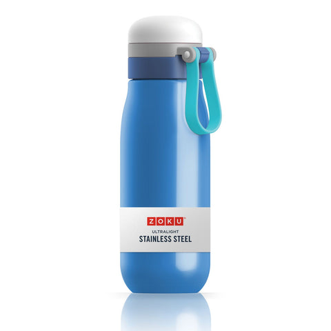 Zoku Ultralight Stainless Steel Bottle-Blue