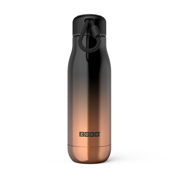 Zoku Gold Ombre Insulated Stainless Steel Bottle, 500ml