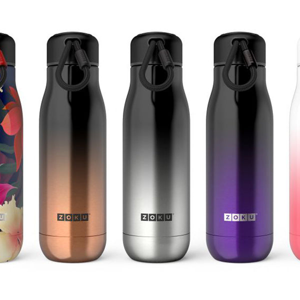 Zoku Platinum Ombre Stainless Steel Bottle