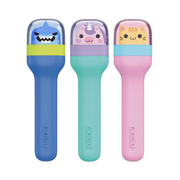 Zoku Stainless Steel Kids Pocket Cutlery Set - Kitty