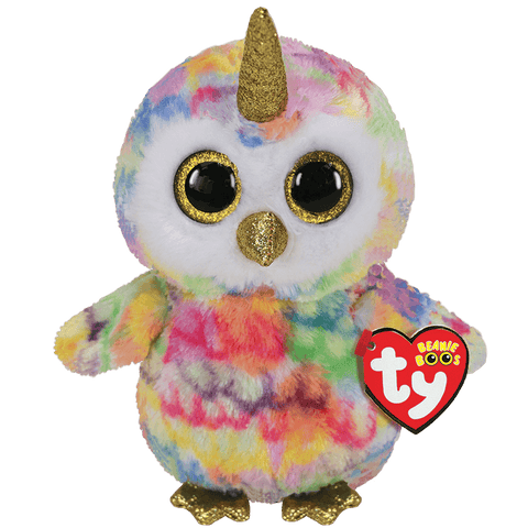 Enchanted-Owl with Horn Regular Beanie Boo Collection