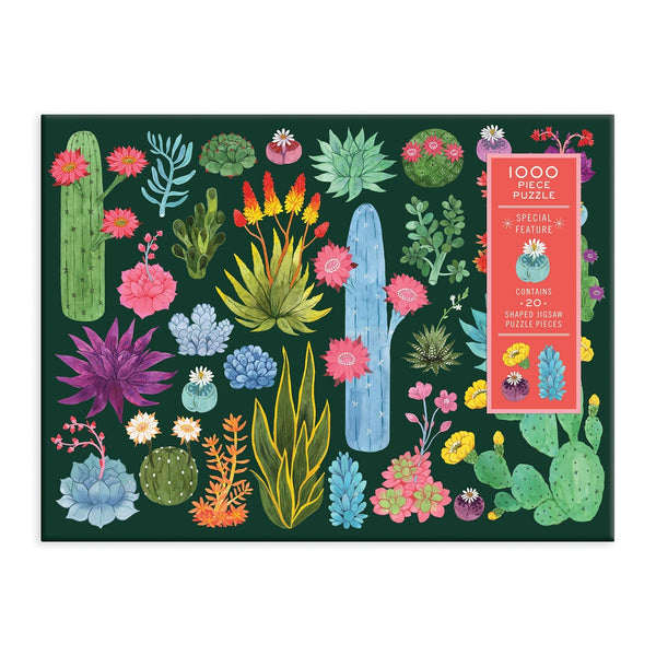 Desert Flora 1000 Piece Jigsaw Puzzle with Shaped Pieces
