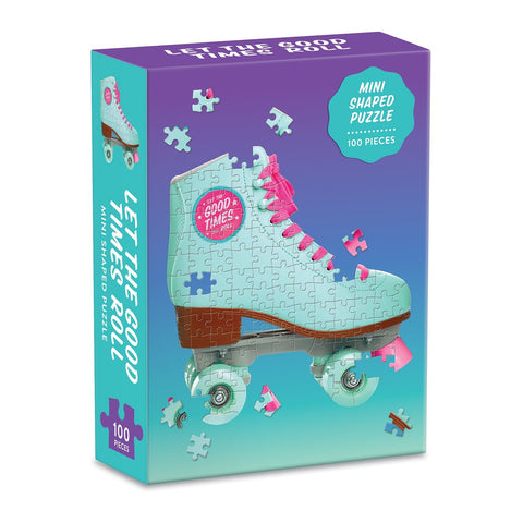 Let the Good Times Roll Roller Skate 100 Piece Mini Shaped Jigsaw Puzzle