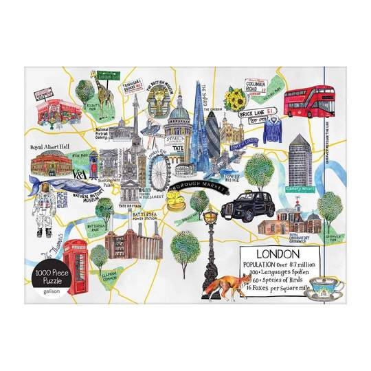 London Map 1000 Piece Jigsaw Puzzle