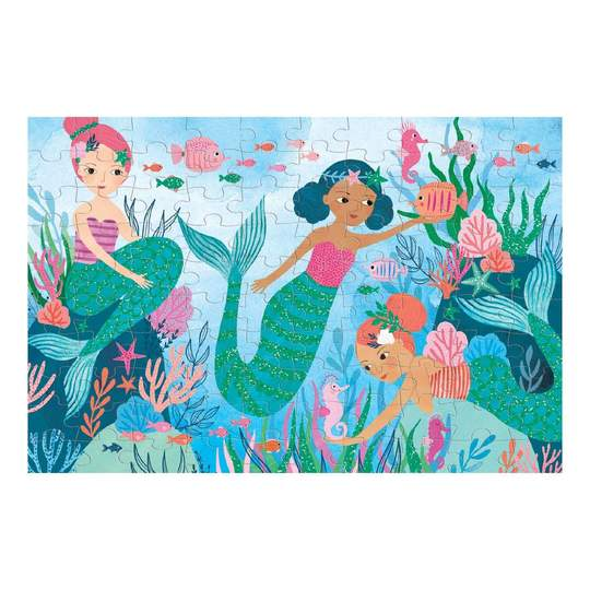 Mermaids Glitter Puzzle - 100 Pieces