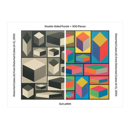 MoMA Sol Lewitt Double Sided 500 Piece Jigsaw Puzzle