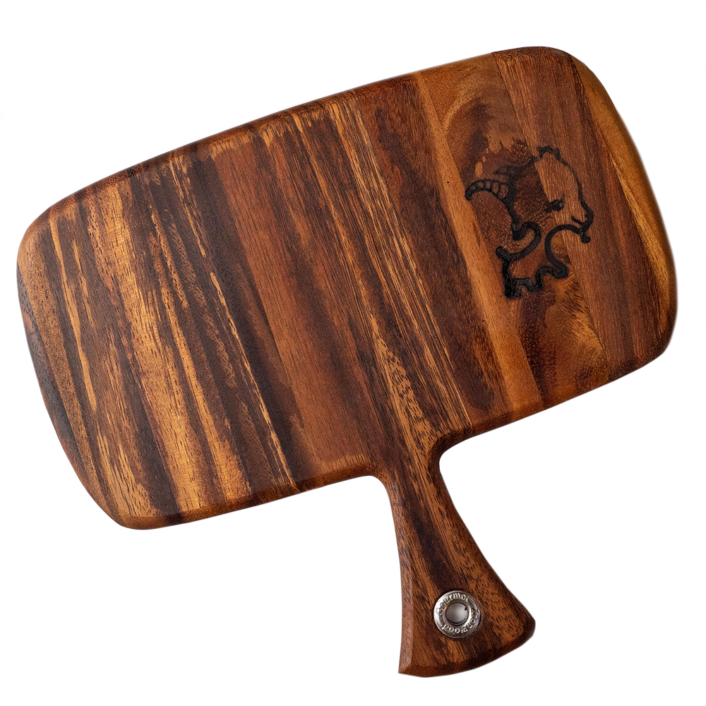 Wood Board with Goat Branding